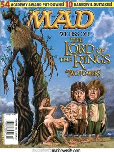 60 hilarious sci-fi spoof covers from 60 years of MAD magazine Mad Magazine, Magazine Covers, Magazine Rack, Hobbit, Comic Book Covers, Comic Books, American Humor, Culture Pop, Mad World