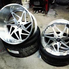 69 camaro forgiato wheels super deep brushed lips burgundy.. 24X15