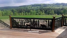 Pine border #spindle #railing by NatureRails (CS-576 & CS-575) added to this…
