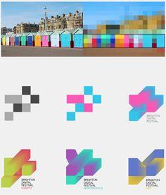 Brighton Design Festival Identity concept by Studio Am Identity Design, Visual Identity, Logo Design, Carta Logo, Festival Logo, Design Festival, Ms Project, Dynamic Logo, Brighton