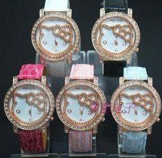 hello kitty rose diamond quart watch