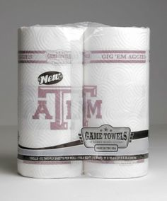 Did you get something on the counter while cooking for the game? Did you get BBQ sauce on your face at the tailgate? Clean it up with these Texas A paper towels! Perfect for tailgating or just watching the game at your house. These paper towels are sure to let your friends and family know you're serious about Texas A!