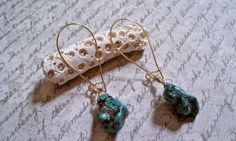 Turquoise Nugget Drop Earring by elisedesalvo on Etsy