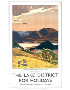 Lake District vintage poster