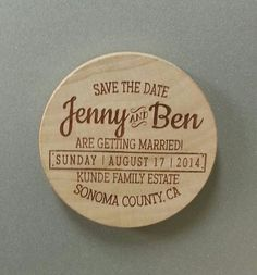 Save the Date Personalized Wood  Magnets  by PersonalizedGallery, $75.00 - Make it a wedding favor instead?