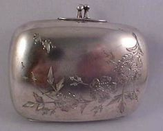 Vintage Engraved Quadruple Silver-Plate Clutch Purse from larryscollectibles on Ruby Lane