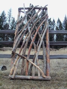 Rustic Stickwork Gate by jgrant0214 on Etsy, $180.00