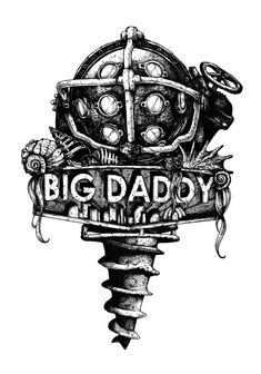 Rapture's Emblems - Created by Nicolas Côme Video Game Logic, Video Game Art, Video Games, Bioshock Game, Bioshock Series, Daddy Tattoos, Gamer Tattoos, King's Quest, Bioshock Tattoo
