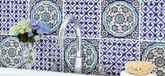 V&A Galicia Decor with Tamara Blue Decor. Victorian Bathroom Wall Tiles. Use as little or as much as you like to bring back a touch of the Victorian era to your kitchen walls.