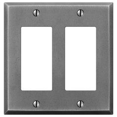 Manhattan Gunmetal Cast - 2 Rocker Wallplate