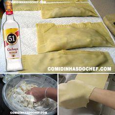 Massa de Pastel Caseiro com Pinga - Comidinhas do Chef