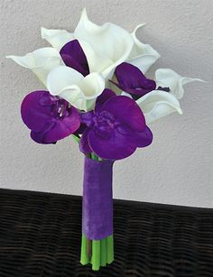 Diff colors - Possible bridesmaids bouquets? Natural Touch Roses Bouquet with Real Touch Callas and Orchids Orchid Bouquet, Hand Bouquet, Peonies Bouquet, Rose Bouquet, Wedding Themes, Our Wedding, Dream Wedding, Wedding Decorations, Wedding Ideas
