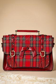 Banned Red Tartan Handbag 212 27 1704010212015 06W