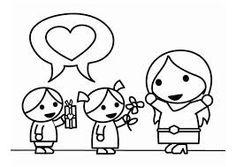 Resultado de imagem para desenho de mãe e filho para colorir