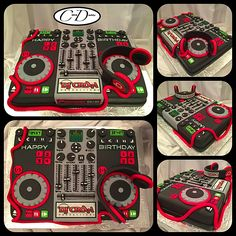 DJ mixer board birthday cake.