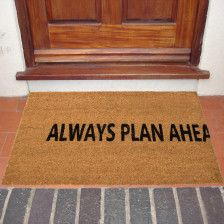 "18""x30"" Thick Natural Coir ""Plan Ahead"" Doormat – Non-Slip"