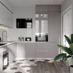 Earth Colour Innovations Home page Kitchen Room Design, Modern Kitchen Design, Living Room Kitchen, Home Decor Kitchen, Interior Design Kitchen, Home Kitchens, Kitchen Tv, Küchen Design, Floor Design