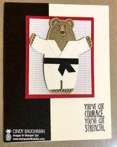Bear Hugs Black Belt Card - www.stampedwithaloha.com