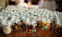 Wedding favors - Mason jars with our favorite candys