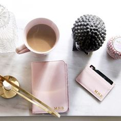 @etienne2012 shows us her pink passport holder with gold initials. Get yours at www.deriwe.com and yes, free shipping worldwide ✈️ #deriwe #passport