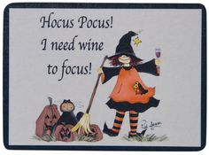 Hocus Pocus Magnet - Kruenpeeper Creek Country Gifts
