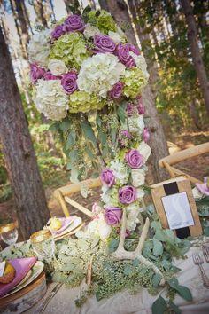 Fairytale Theme Wedding - Bridal Inspiration - Beautiful - Elegant Wedding Magazine - Blog - Floral Centerpiece - Flowers