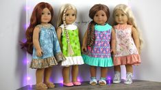 DIY Ruffled Flutter Sleeve dress tutorials for and dolls with free printable Pattern Sewing Doll Clothes, American Doll Clothes, Girl Doll Clothes, Girl Dolls, American Dolls, Ag Dolls, Barbie Clothes, Doll Dress Patterns, Doll Sewing Patterns