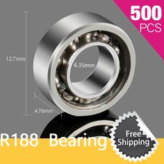>> Click to Buy << 500pcs R188 Bearing For Tri-Spinner Fidget Pattern Bearings Metal  Decompression Action #Affiliate