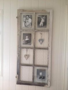 I'm a sucker for this eye-catching photo Window Frame Crafts, Old Window Projects, Window Frames, Window Frame Ideas, Vintage Windows, Old Windows, Barn Door Decor, Shutter Decor, Room Wall Decor