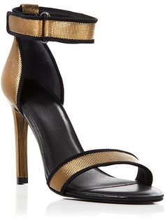 Ateljé 71 Ankle Strap Sandals - Jask Metallic High Heel