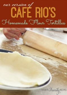 Cafe Rios Flour Tortillas - These Homemade Flour Tortillas are also great for soft tacos. You are going to need a fairly large griddle or pan if you are going to make the huge tortillas for a salad or burrito. These tortillas taste amazing and they are so easy my husband can do it! He is actually the one making them in the picture!