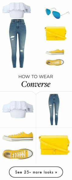 White top with blue jeans #converse shoes