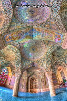 Nasir Al-Mulk Mosque in Shiraz, Iran - funny pictures #funnypictures