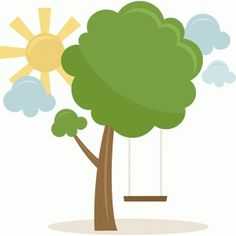 Silhouette Design Store - View Design #60989: tree with swing