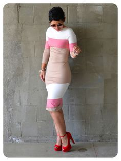 Fashion, Lifestyle, and DIY: Dress Using Color-Blocked Fabric + Check Me Out! Clothes Crafts, Sewing Clothes, Refashioning Clothes, Fashion Sewing, Diy Fashion, Cute Dresses, Cute Outfits, Business Casual Attire, Recycled T Shirts