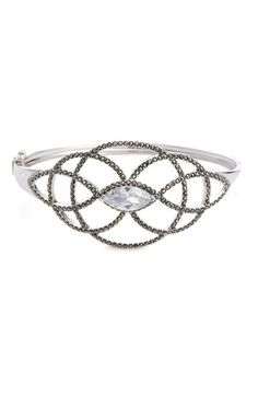 Judith Jack Wide Marcasite Hinged Bangle available at Nordstrom