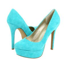 I WILL JUST FALL OVER IF I DONT HAVE THESE!  :) Turquoise Suede Shoes by Jessica Simpson
