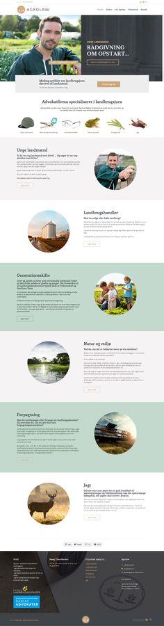 Webdesign for landbrugsadvokaten Agrolaw. Se mere her http://www.byherskind.dk/portfolio/agrolaw/ #webdesign