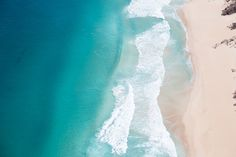 Beach Aerial Photo // Ocean Print // Beach Decor // Digital