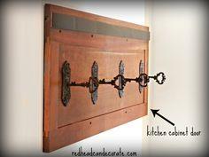 DIY Antique Key Coat Rack Kitchen Cabinet Drawers, Kitchen Cabinet Hardware, Kitchen Cabinets, Antique Keys, Antique Hardware, Diy Drawers, Diy Organization, Diy Furniture, Painted Furniture