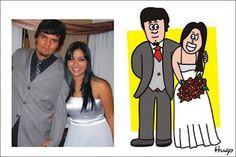 Cartuns personalizados, caricatura, para casamentos e outros eventos.