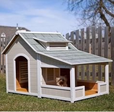 Precision Outback Savannah Dog House with Porch contemporary pet accessories