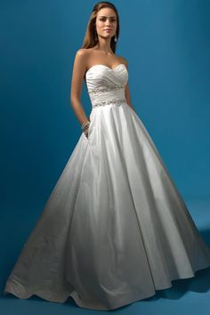 Alfred-Angelo Strapless Wedding Dresses - Style 2119