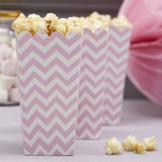Chevron popcorn bekers (8st)