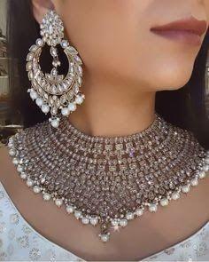 Indian Jewelry Sets, Traditional Earrings, Fancy Jewellery, Indian Necklace, Pakistani Jewelry, Wedding Jewelry Sets, Necklace Designs, Fashion Jewelry, Jewelry Design