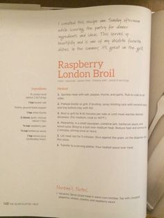 Raspberry London broil