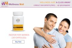 Special Offers‬ Get 15% Discount insantly on every product Buy ‪Restor For Women‬ (30 Capcules)- Visit http://goo.gl/EzeiaH Restor is potent & effective aphrodisiac & with no adverse effects. It allows to explore sexuality at own pace. Get FREE Advice from Doctors : 09022044002 Category: Sexual Health