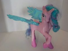 "Hasbro MLP My Little Pony 8"" large Size Talking Princess CELESTIA Flutter Wings"