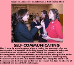 No receiving Holy Communion in the hand!!