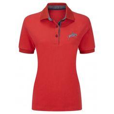 Harry Hall Ladies Red Appleton Polo Shirt | Millbry Hill